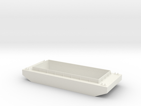 O Scale Barge in White Natural Versatile Plastic