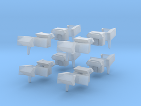 Automatic N-gauge couplers for 24.5 t coal hoppers in Smoothest Fine Detail Plastic