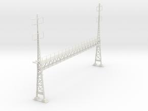 PRR 17.8 LARGE ANCHOR BRIDGE in White Natural Versatile Plastic