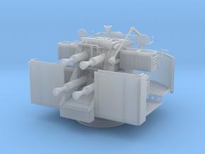 1/32 RNQF 2-pounder (40mm) quadruple naval gun in Smooth Fine Detail Plastic