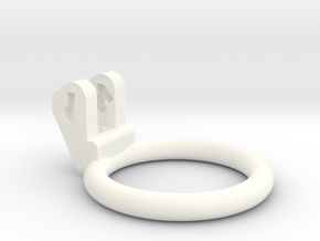 New Fun Cage - Ring - 46mm - Circular in White Processed Versatile Plastic