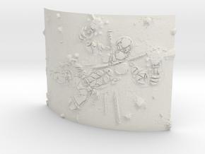 deadpool Curved Lithophane in White Natural Versatile Plastic