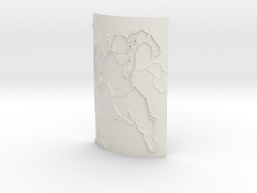 Flash Curved Lithophane in White Natural Versatile Plastic
