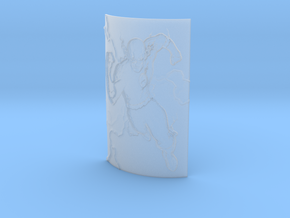 Flash Curved Lithophane in Smooth Fine Detail Plastic