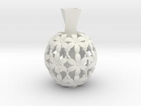 Mini Flower Vase in White Natural Versatile Plastic