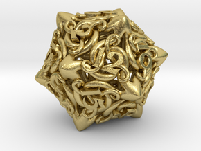 Cthulhu D20  in Natural Brass