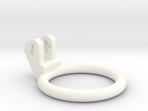 New Fun Cage - Ring - 50mm - Circular in White Processed Versatile Plastic