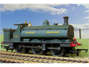 GWR Saddle Tank Body For Std Hornby 0-6-0 in White Natural Versatile Plastic