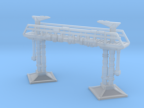 Docking Bay 327 gantry, with railings, 1:350 in Smoothest Fine Detail Plastic