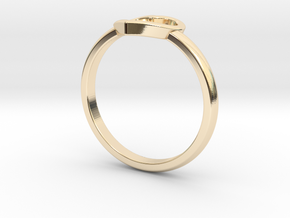 Heartring in 14k Gold Plated Brass