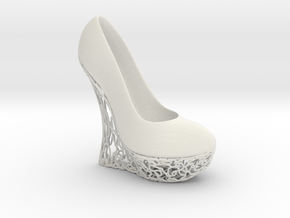 Right High Heel Wedge (complete) in White Natural Versatile Plastic