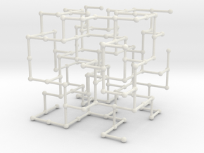 Haugland's grid subgraph no. 4 in White Natural Versatile Plastic