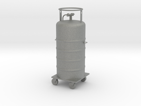Cryogen Tank & Cart O scale in Gray Professional Plastic