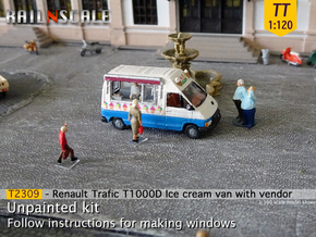 Renault Trafic T1000D Ice cream van with vendor TT in Smooth Fine Detail Plastic