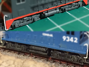 SW1200 Truck & Fuel Tanks in Smooth Fine Detail Plastic