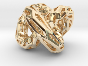 DRAGON Structura, Pendant. Strong Finesse in 14K Yellow Gold