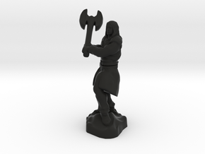 Human Blood Hunter with Battle axe in Black Premium Versatile Plastic