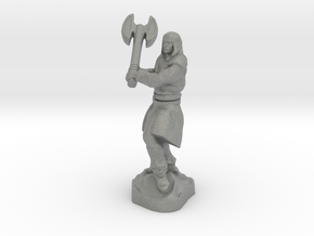 Human Blood Hunter with Battle axe in Gray Professional Plastic