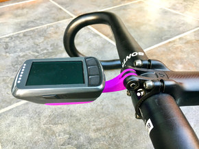 Wahoo Elemnt Bolt Blendr Mount - Low in Purple Processed Versatile Plastic
