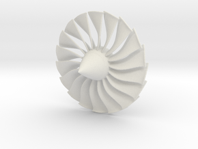 Engine Fan Blades in White Natural Versatile Plastic