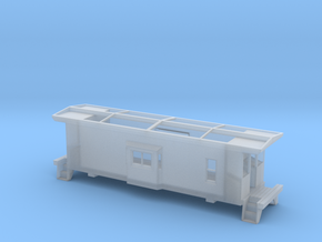 HO Scale Illinois Terminal Railroad Caboose ITRR 9 in Smooth Fine Detail Plastic