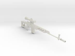1/3rd scale Dragonuv  SVD Sniper Rifle in White Natural Versatile Plastic
