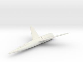 """(1:285) Karl Stöckel """"Atomflugzeug"""" (1950) in White Natural Versatile Plastic"""