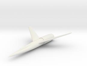 """(1:144) Karl Stöckel """"Atomflugzeug"""" (1950) in White Natural Versatile Plastic"""