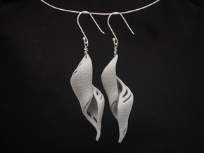 Chrysalis Shell Earrings. in Metallic Plastic