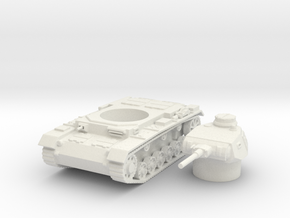 panzer III F scale 1/100 in White Natural Versatile Plastic