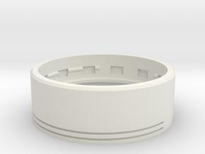 GCM124 - 28mm Flat Speaker Chassis in White Premium Versatile Plastic