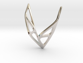 sWINGS Soft Structura, Pendant in Rhodium Plated Brass