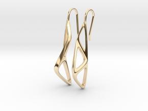 sWINGS Organic Structure, Earrings in 14K Yellow Gold