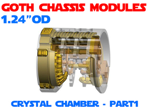 GCM124-CC-01-2 - Crystal Chamber Part2 - Brass1 in White Natural Versatile Plastic