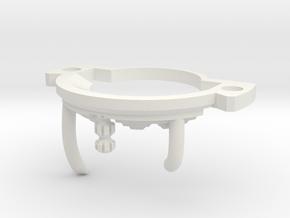 GCM124-CC-01-3 - Crystal Chamber Part3 - Brass2 in White Premium Versatile Plastic