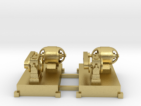 Motor-Generator-Satz (V6) mit Transmission 2erSet  in Natural Brass