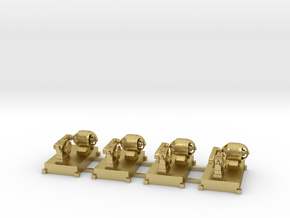 Motor-Generator-Satz (V10) mit Transmission 4erSet in Natural Brass