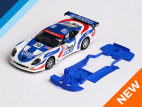 1/32 Ninco Callaway C12-R Chassis for Slot.it pod in Blue Processed Versatile Plastic