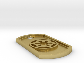 Star Wars Imperial Seal Themed Dog Tag in Natural Brass