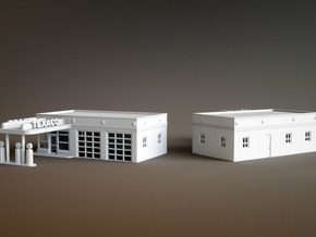 50s Texaco Station Z Scale in Smooth Fine Detail Plastic