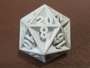 D20 - Plunged Sides in Gray Professional Plastic
