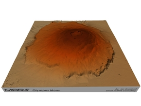 "Mars, Olympus Mons: 9"" in Natural Full Color Sandstone"