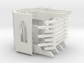 Kloster-Ruine V1 - Chor-Raum in White Natural Versatile Plastic