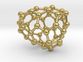 0647 Fullerene c44-19 c1 in Natural Brass