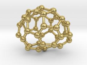 0648 Fullerene c44-20 c1 in Natural Brass