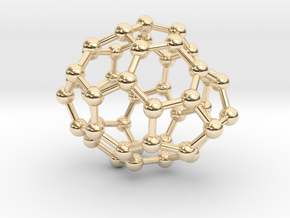 0650 Fullerene c44-22 c1 in 14k Gold Plated Brass
