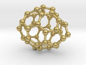 0650 Fullerene c44-22 c1 in Natural Brass