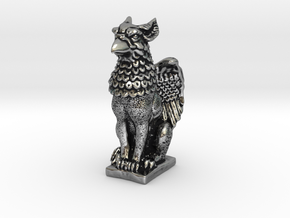 Griffin mini Statue in Antique Silver: Small