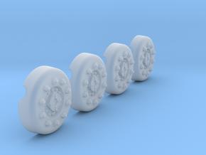 1/18 Dragon Wagon Wheel Center Set105 in Smooth Fine Detail Plastic