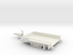 1033 Tiefladeanhänger für kleine Baumaschinen in White Natural Versatile Plastic: 1:87 - HO
